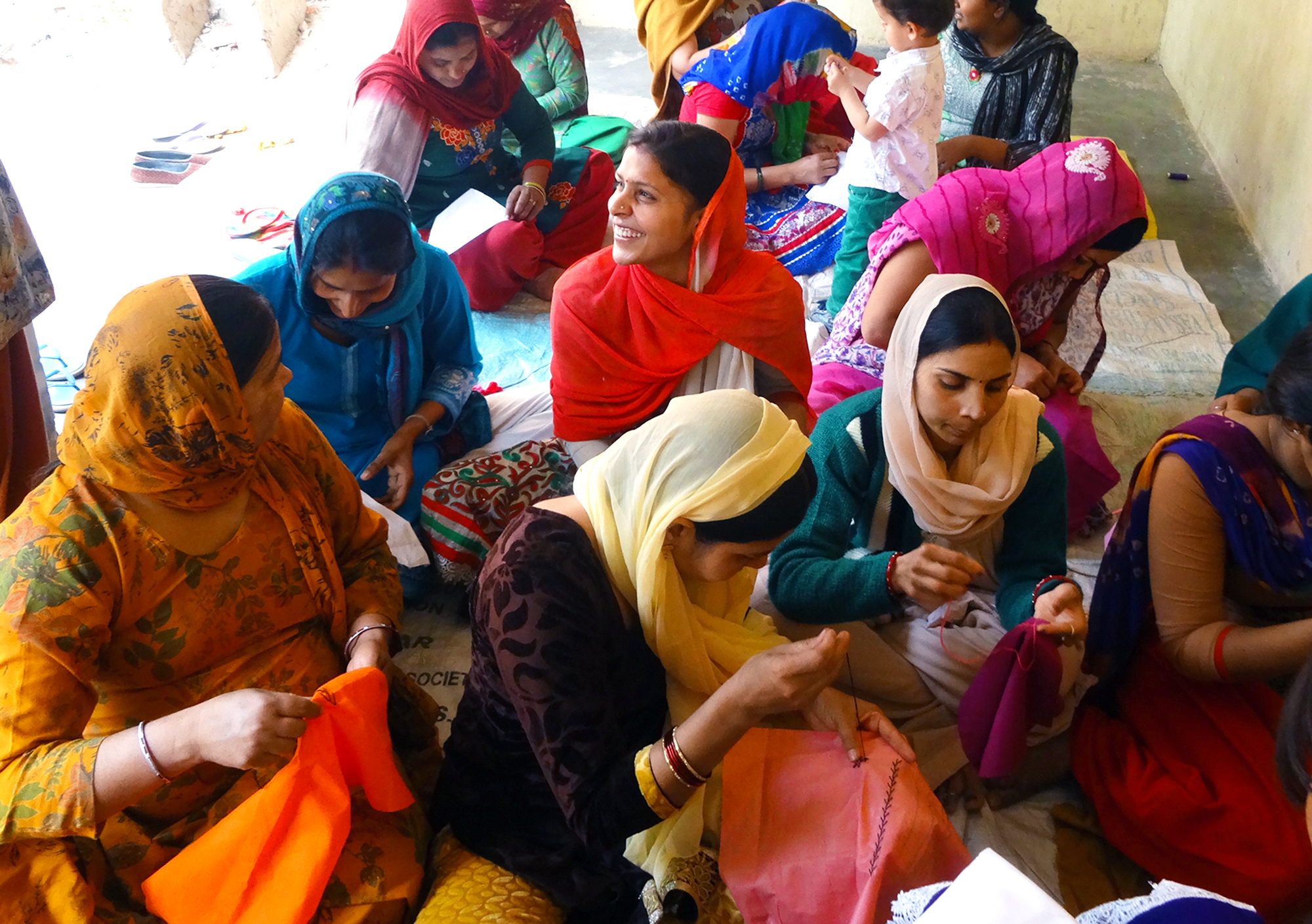 Kamalini in Delhi and Haryana region giving basic education, vocational training and work placements